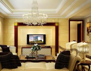 100平米别墅欧式风格客厅吊顶装修效果图欣赏