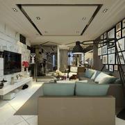 120平米现代简约客厅效果图