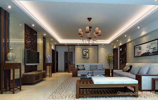 大户型客厅室内电视背景墙装修效果图欣赏