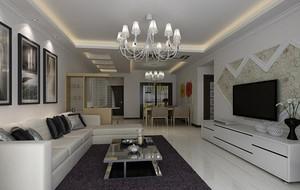 小户型欧式精致客厅吊顶设计装修效果图