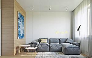 85平米都市自然清新朴素单身公寓装修效果图赏析