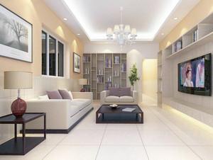 经典的别墅型欧式客厅电视背景墙装修效果图