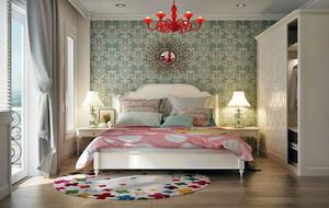 现代简约风格时尚创意女生卧室装修效果图大全