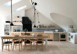 90平米简约风格斜顶阁楼整体设计装修效果图实例