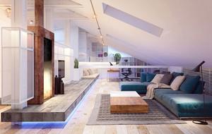120平米简约自然风格室内公寓装修效果图赏析