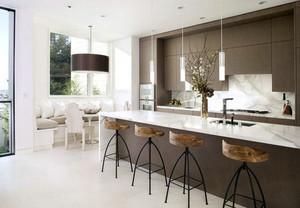 欧式风格大户型精致室内开放式厨房装修效果图