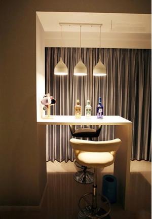简约风格时尚创意家庭吧台设计装修效果图大全
