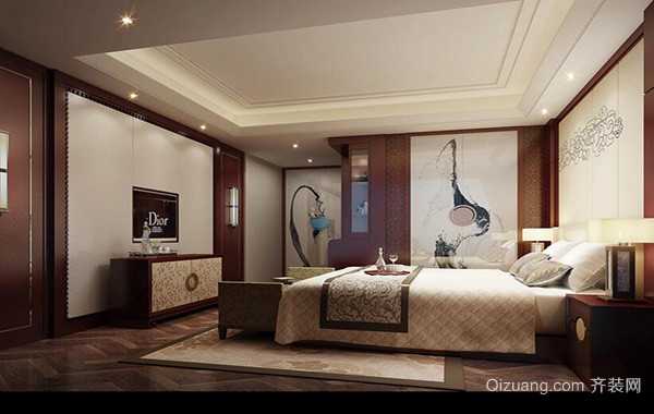 2016别墅欧式卧室吊顶设计装修效果图欣赏