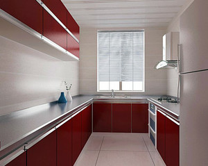 别墅室内厨房橱柜设计装修效果图欣赏