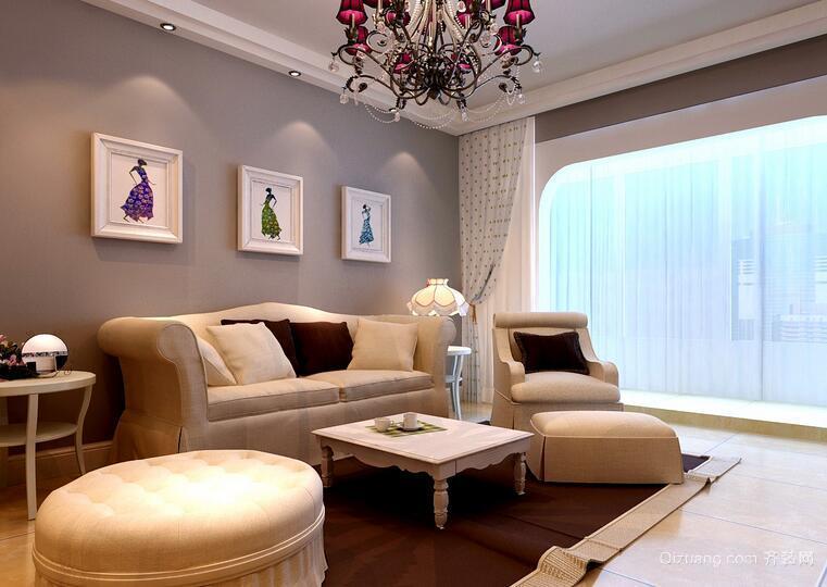 2016精致别墅客厅吊顶设计装修效果图欣赏