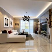 大户型现代客厅室内设计装修效果图欣赏