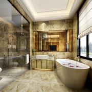 90平米欧式卫生间室内设计装修效果图欣赏