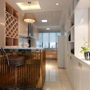 现代风格简约时尚大户型吧台酒柜装修效果图