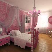 可爱卡通女生儿童房