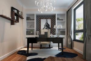 后现代风格简约时尚大户型创意书房装修效果图