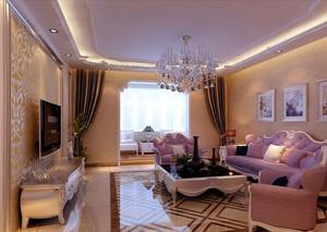 别墅型欧式风格精致华丽客厅吊顶装修效果图