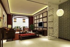 新中式风格精致大户型室内客厅装修效果图