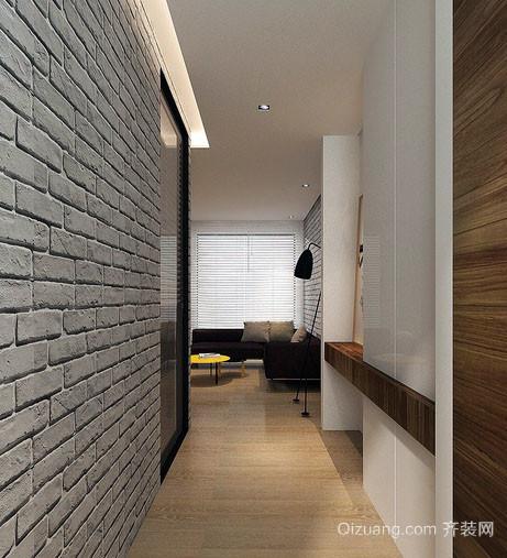 80平米北欧风格自然朴素室内过道装修效果图
