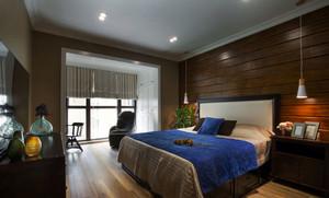 现代美式乡村风格两居室卧室装修效果图