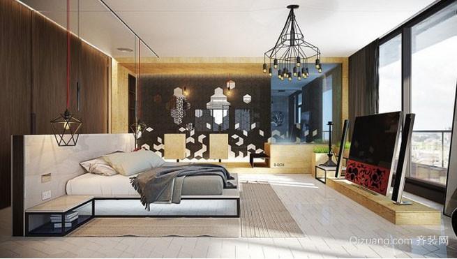 120平米后现代风格室内卧室装修效果图