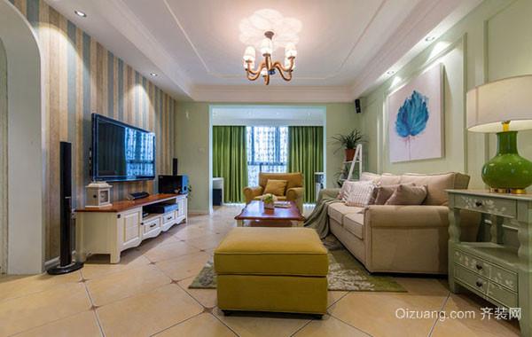 90平米都市轻快简约风格公寓装修效果图实例