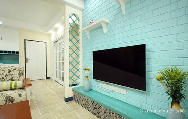 2016年全新款80平米小清新风格自然轻快公寓装修效果图