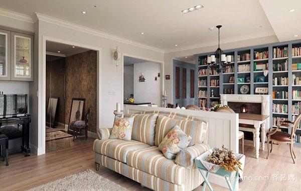 120平米欧式田园风格自然舒适公寓整体设计装修效果图