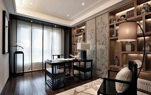 新中式风格大户型精致室内书房装戏效果图赏析
