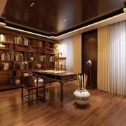 大户型新中式风格书房效果图
