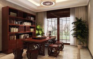 新中式风格精致大户型室内书房装修效果图大全