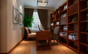 别墅型新中式风格室内精致书房装修效果图鉴赏