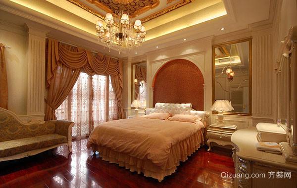 别墅型欧式风格精致典雅室内卧室吊顶装修效果图
