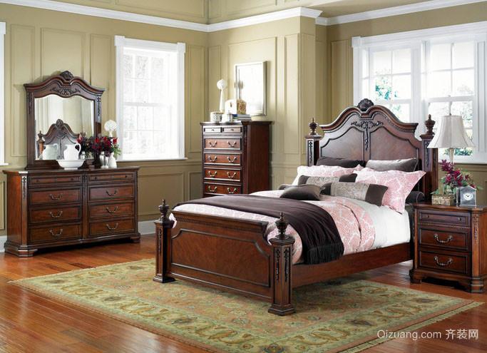 美式风格大户型室内卧室装修效果图