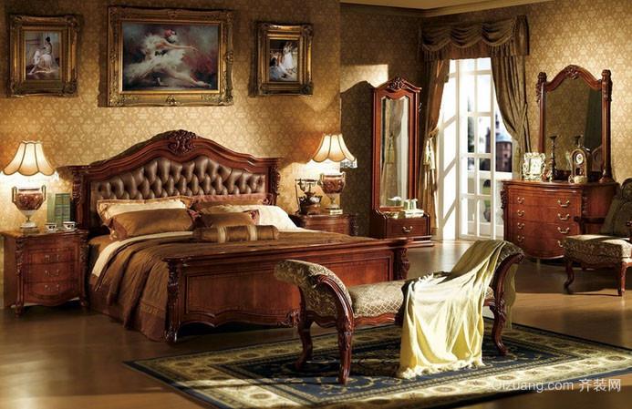 美式乡村风格大户型室内卧室装修效果图赏析
