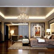 别墅型后现代风格室内时尚卧室装修效果图