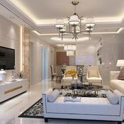 客厅精美水晶吊灯设计