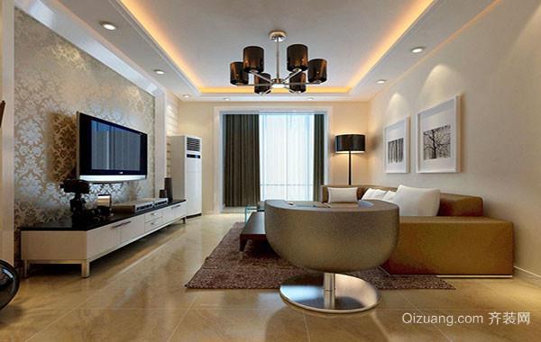 120平米简约风格时尚室内客厅吊顶装修效果图赏析