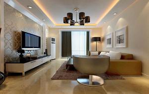 现代简约风格室内客厅电视背景墙墙纸装修效果图