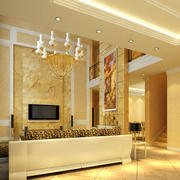 别墅豪华欧式风格高贵室内客厅大理石电视背景墙装修效果图