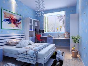现代简约风格时尚创意两室两厅儿童房装修效果图赏析
