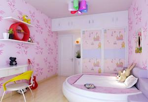 现代简约风格两室两厅女生儿童房卧室装修效果图