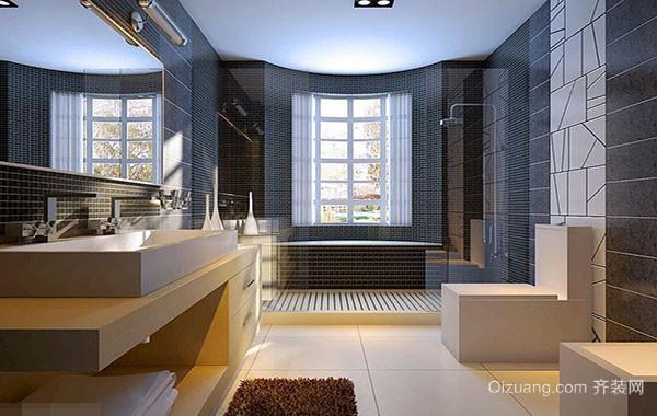 美式乡村风格简约时尚大户型室内卫生间装修效果图