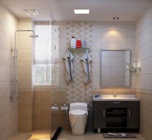 大户型现代都市风格简约室内卫生间隔断装修效果图实例