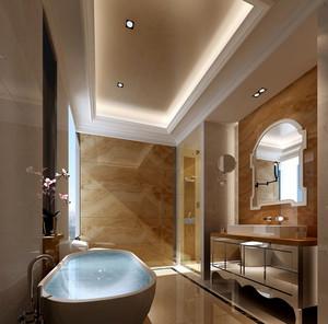 别墅型欧式风格精致室内卫生间整体设计装修效果图