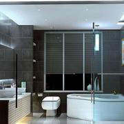 10平米现代简约风格室内卫生间装修效果图