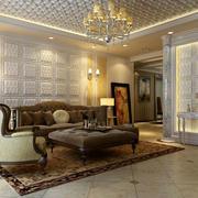 别墅型客厅整体设计效果图