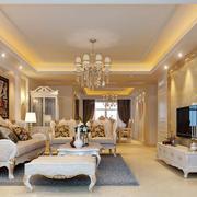 大户型欧式风格精致优雅客厅吊顶装修效果图鉴赏