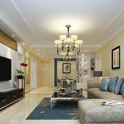 120平米现代简约时尚温馨客厅电视背景墙装修效果图