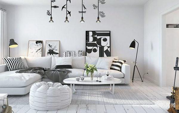 70平米北欧风格简约舒适室内单身公寓装修效果图