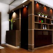 大户型现代中式风格进门玄关鞋柜装修效果图